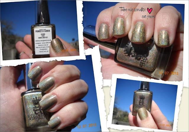 princess sabra nail polish nails uñas esmaltes holographic aenglan