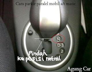 cara parkir paralel mobil a/t matic
