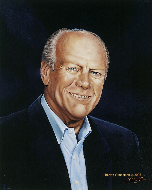 Art Now And Then Gerald R Ford Portraits