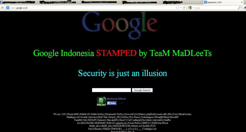 Situs Google Indonesia Kena Hack