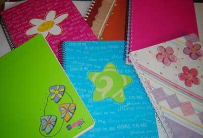 Carátulas cuadernos de colores