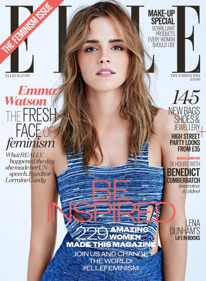 Emma Watson covers Elle UK 'The Feminism Issue' December 2014