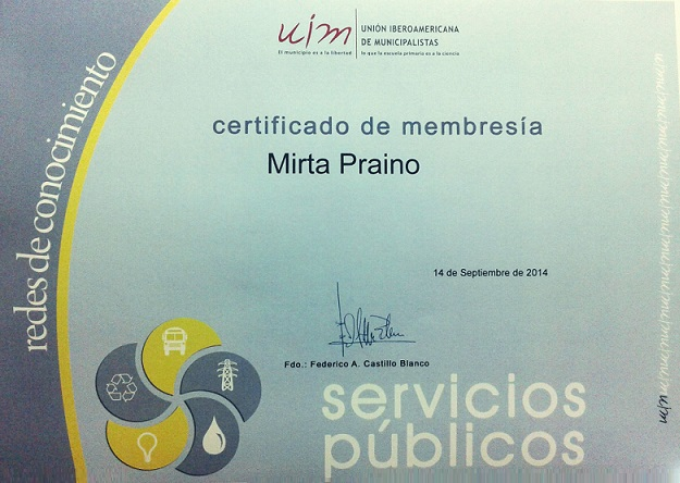 Certificado de Membresia