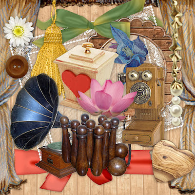 "Free scrapbook elements 3 ""It's all wood"" from Miriams-scrap"