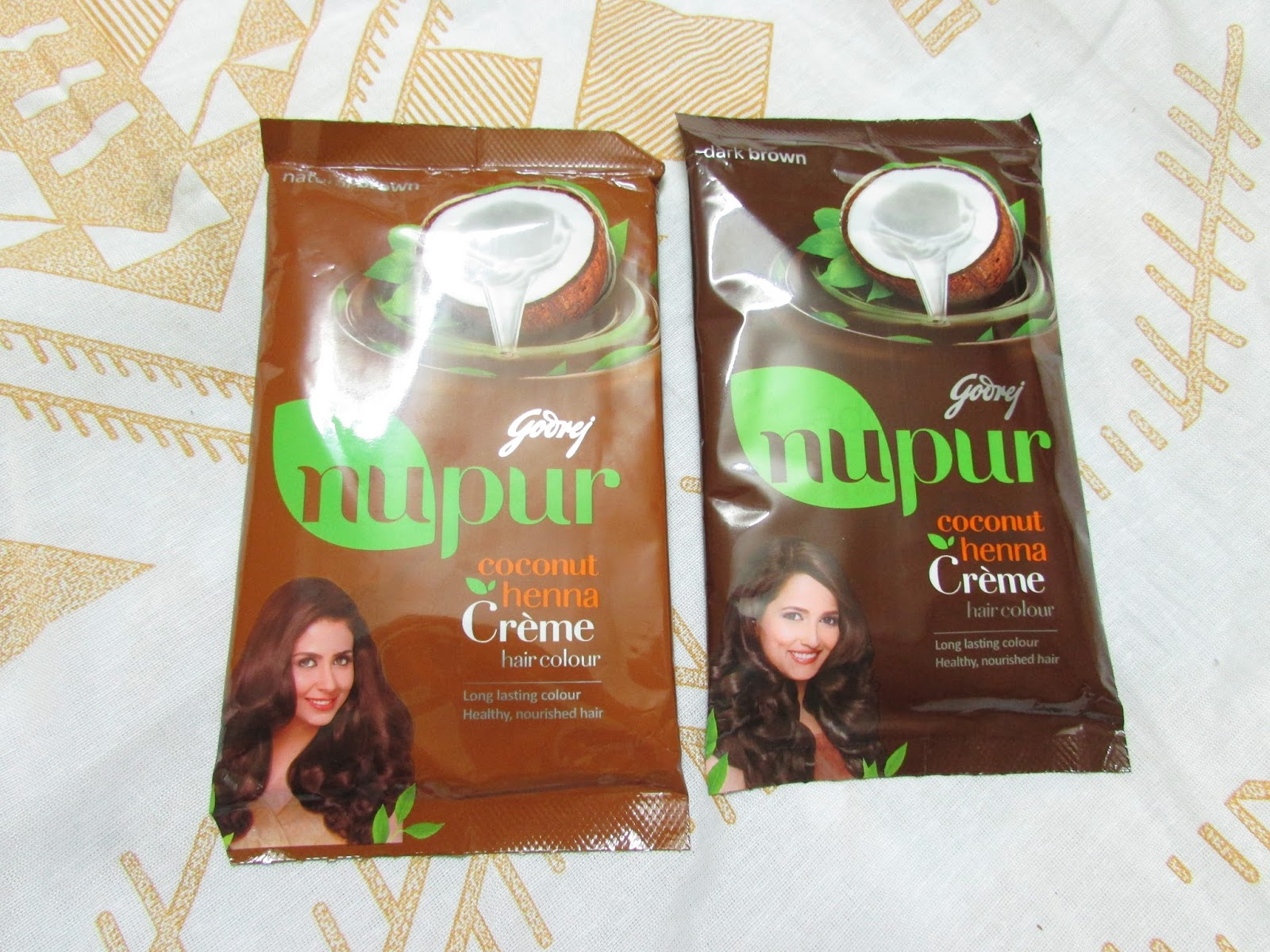 Godrej Nupur Coconut Henna Crme Hair Color Review