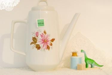 vintage, servies, design, online, theepot, bloemen