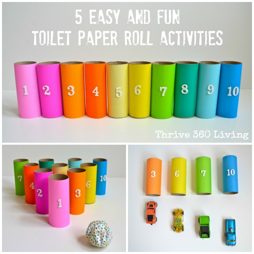 thrive 360 living five easy and fun toilet paper roll kid