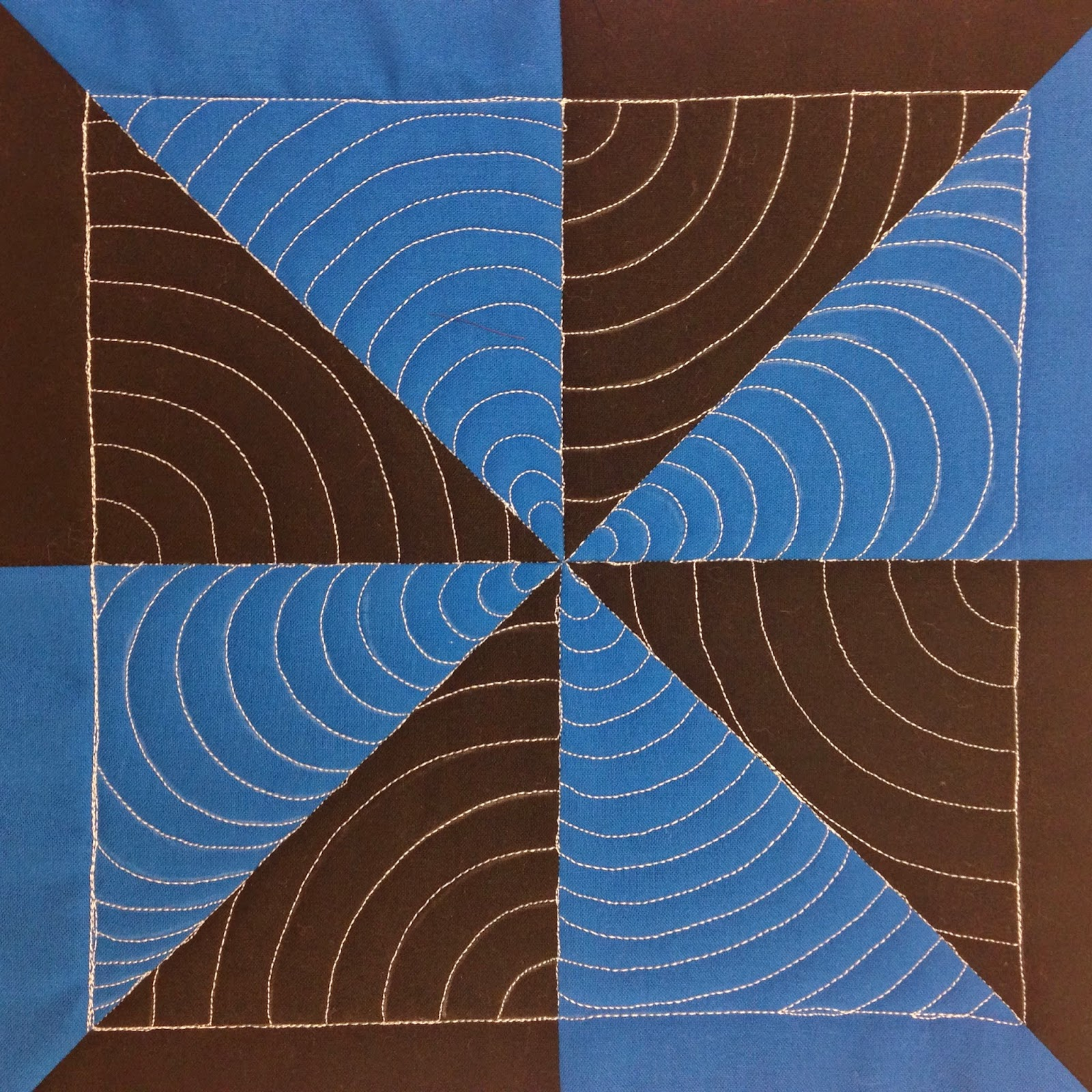 Free Motion Quilting Patterns For Blocks : The Free Motion Quilting Project: 26. Quilt Echo Shell in a Pinwheel Block