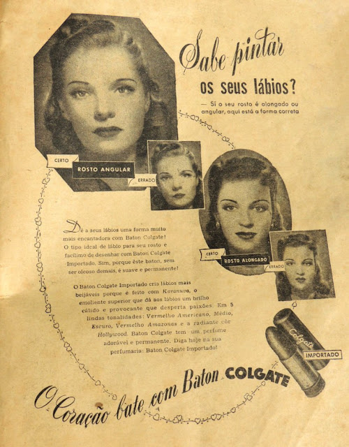 Propaganda do Baton Colgate, veiculada na Revista O Globo em 1948.
