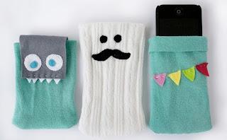 Capinhas para celular feitas com meias
