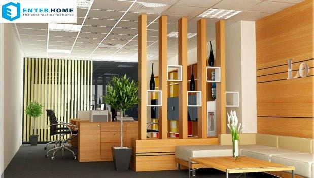 enterhome chuyên thi công nội thất văn phòng giá rẻ