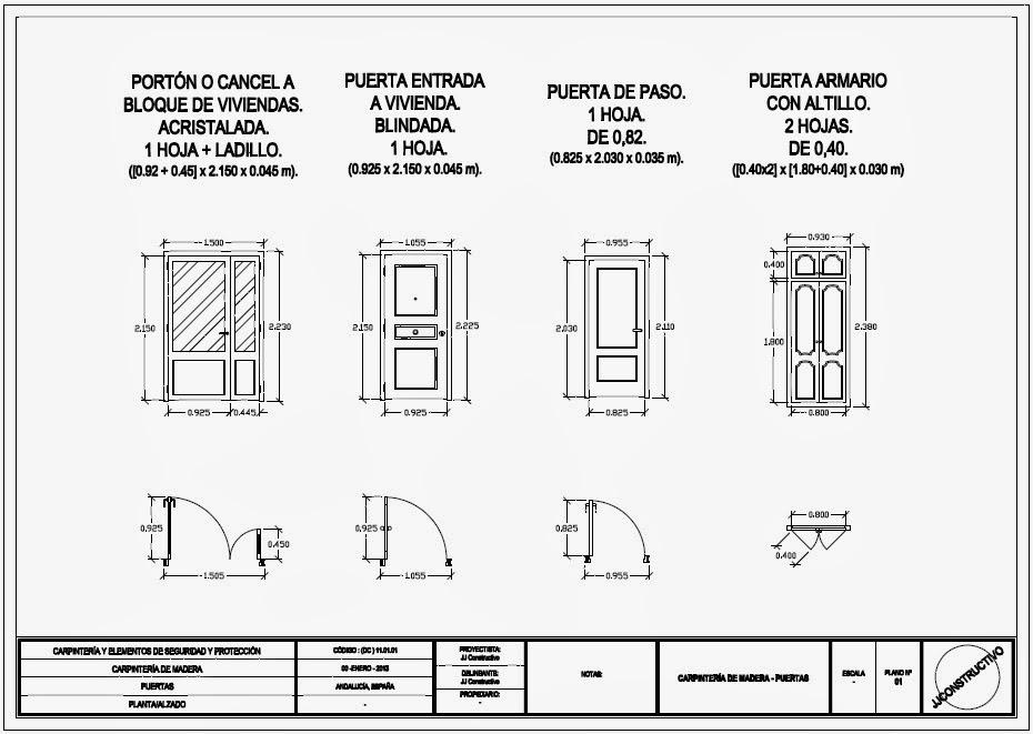Jjconstructivo detalles carpinter a de madera puertas for Planos de carpinteria de madera