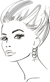 Vector sketch of a woman