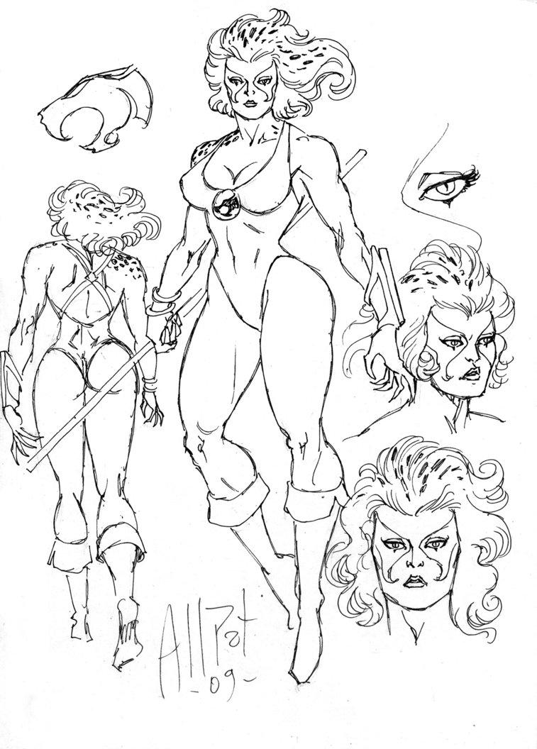 cheetara thundercats coloring pages - photo#22