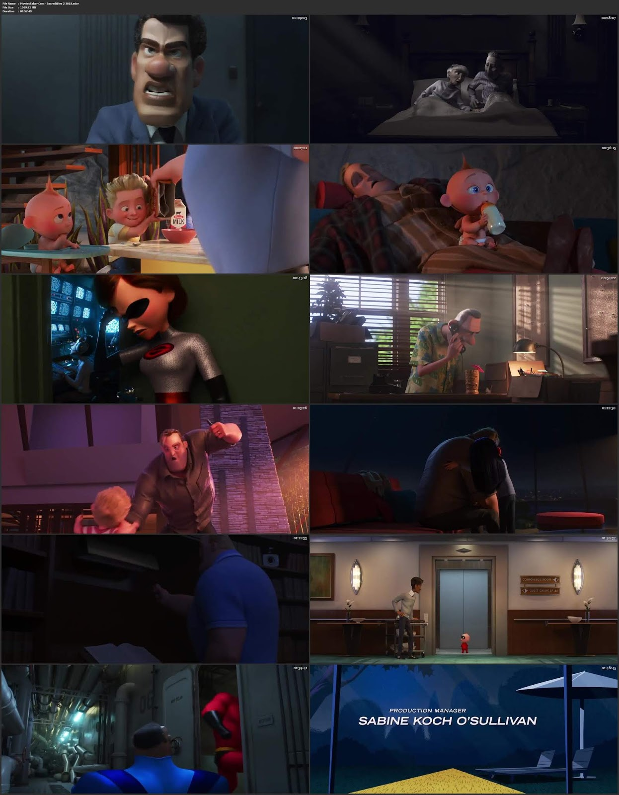 Incredibles 2 2018 Hindi Dubbed 300MB Movie HDRip 480p