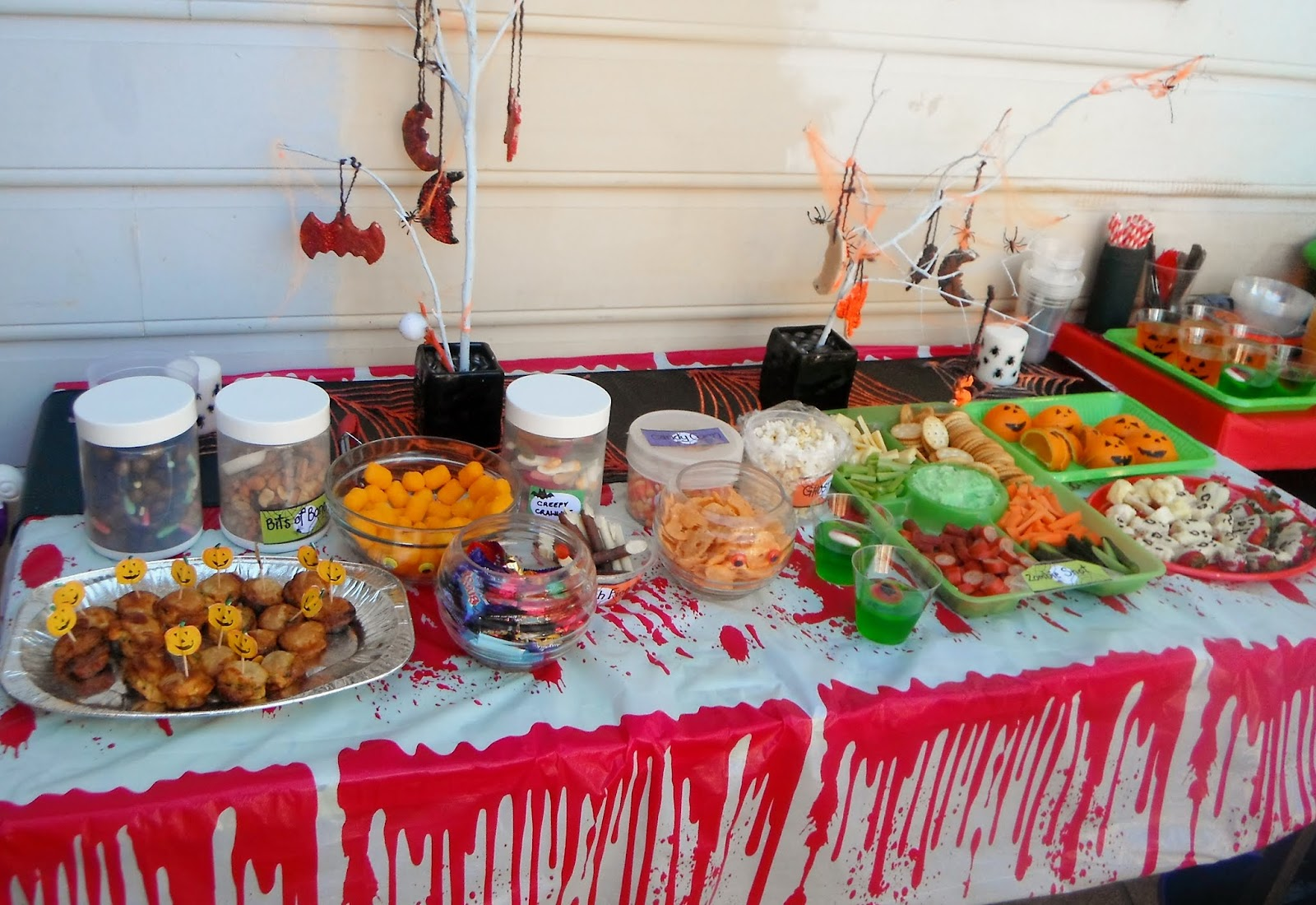 Halloween food table decorations - Finger Buffet Ideas Home Home Ideas