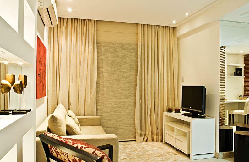 Sala Tv Apartamento Pequeno ~ Os racks na cor branca ficam ótimos em espaços pequenos Este tem