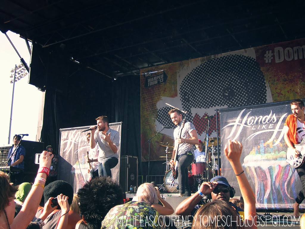 Vans Warped Tour 2013 Pomona California Hands Like Houses