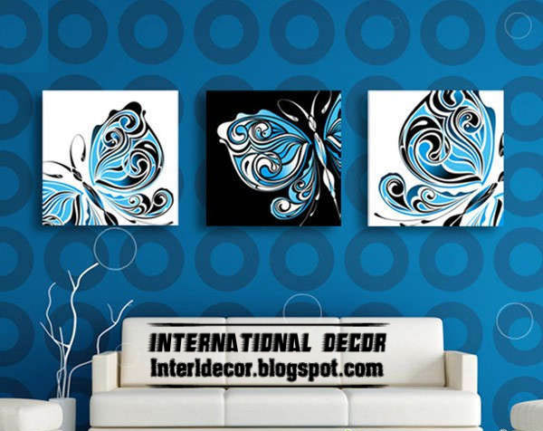 Interior design 2014 original abstract art paintings on for Black canvas painting ideas