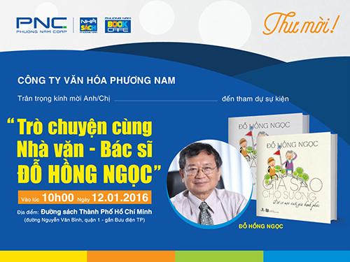 Giao lưu Bác sĩ Đỗ Hồng Ngọc tại BookCafe Đường sách TP.HCM