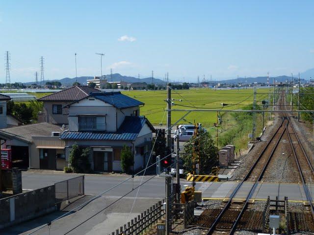 東武伊勢崎線 県駅 常備軟券乗車券 安西自転車預り店