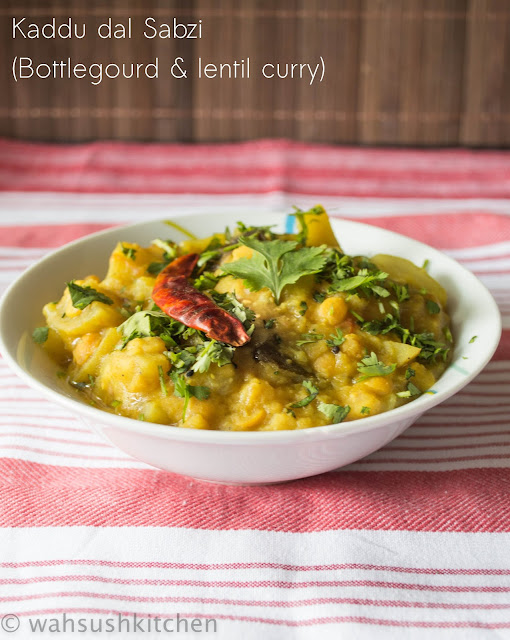 kaddu and chana dal curry