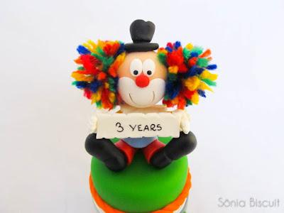 Biscuit Circo Palhaço Foca Coelho Leão Aniversário Lembranciha Topo de Bolo