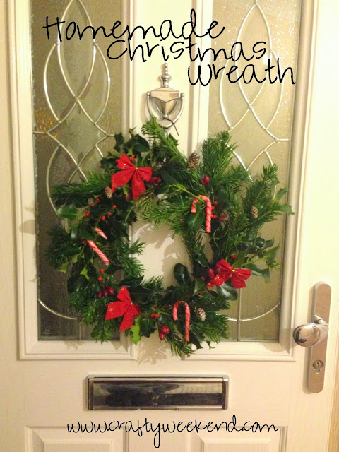 how to make a Christmas wreath with pine and holly