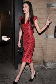 Demi Moore looking very very skinny