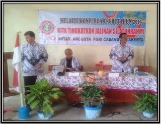 KONPERCAB PGRI KECAMATAN JAYAKERTA TAHUN 2013