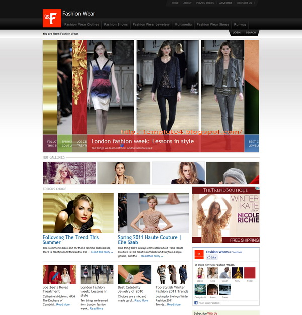 FashionWear WordPress Theme