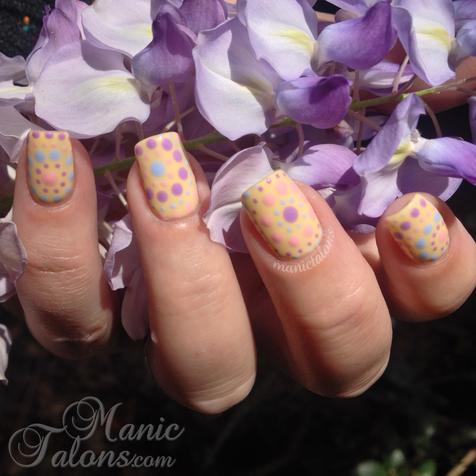 Manic Talons Nail Design: Pastel Dots for Spring with LeChat Perfect ...
