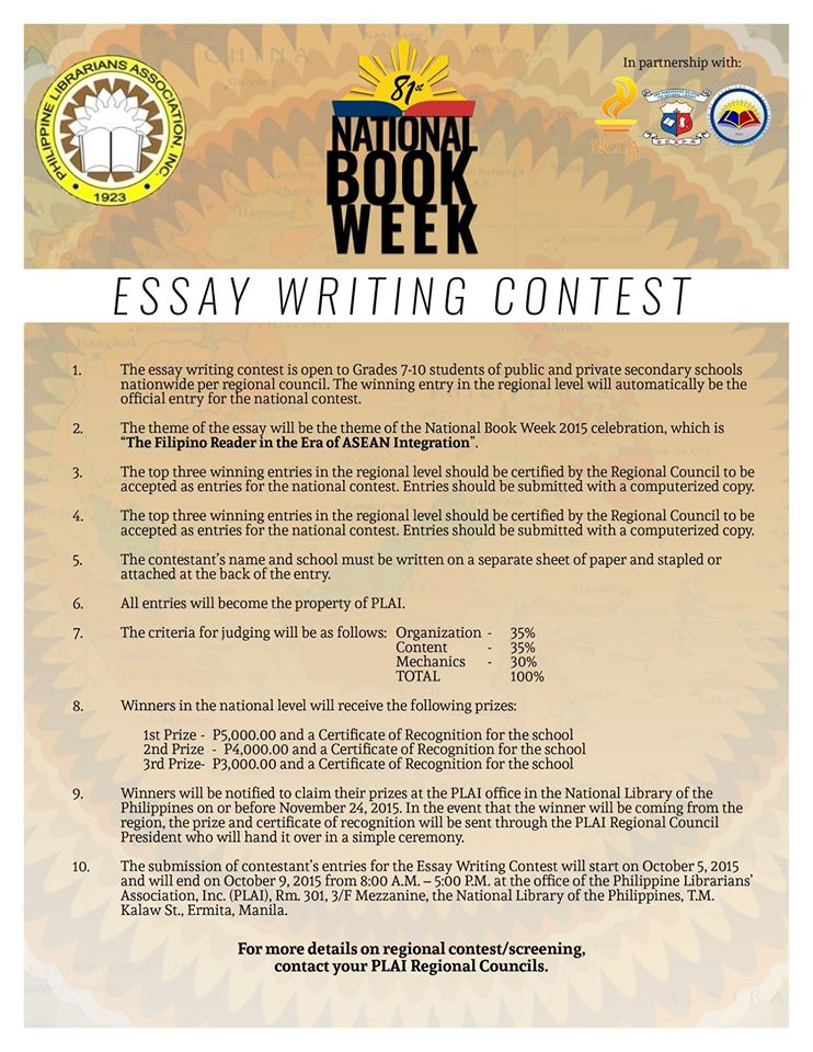 essay writing contest for kids Writing contests - poetry, short story, essay, screenwriting & more on this page, you'll find the web's best and most updated selection of writing contests.