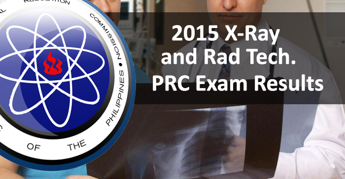 Top 10 Placers of July 2015 Radiologic Technologists Board Exam