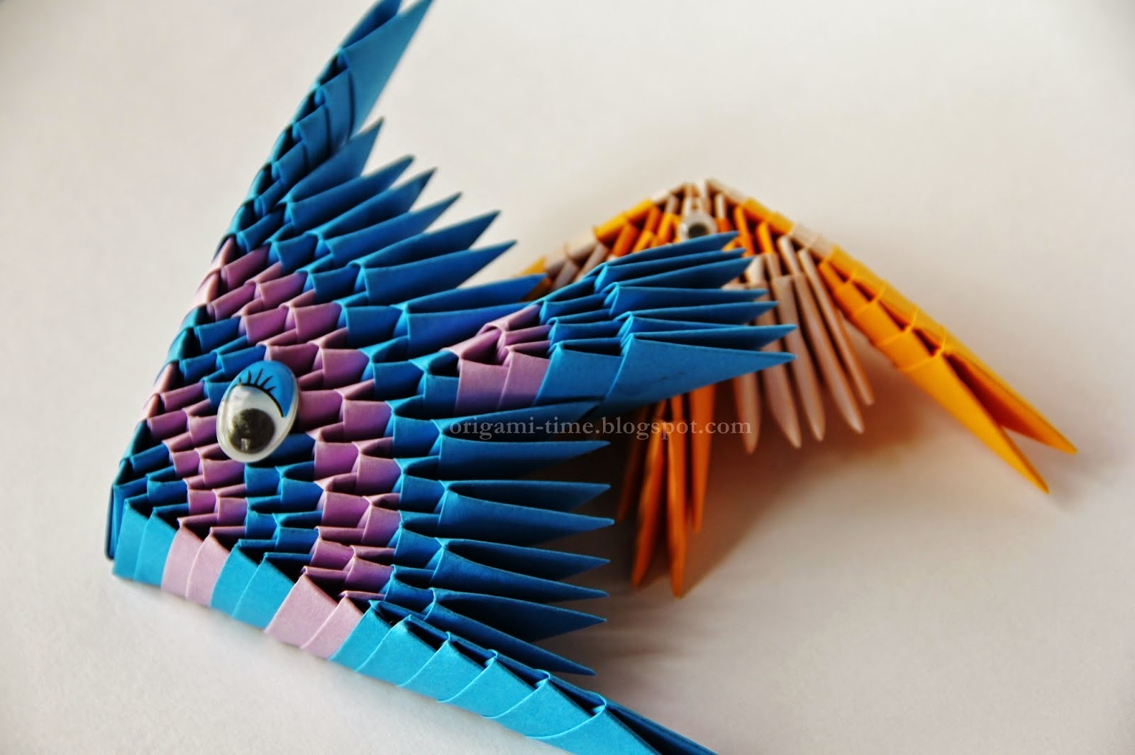 Origami instructions fish modular 3d make origami easy for How to make fish