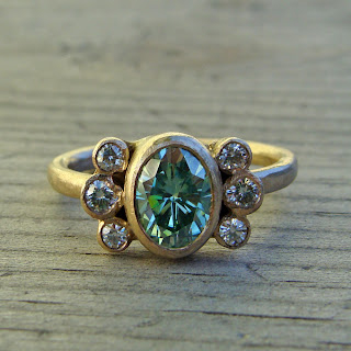 green moissanite jewelry