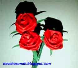 langkah cara membuat bunga mawar dari kertas 11