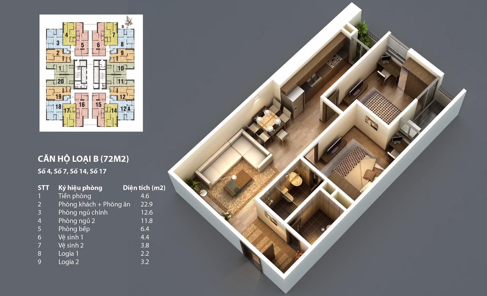 sơ đồ thiết kế chung cư hp landmark tower