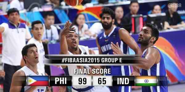 Image: Gilas Pilipinas beats India, 99-65 | #FIBAAsia2015
