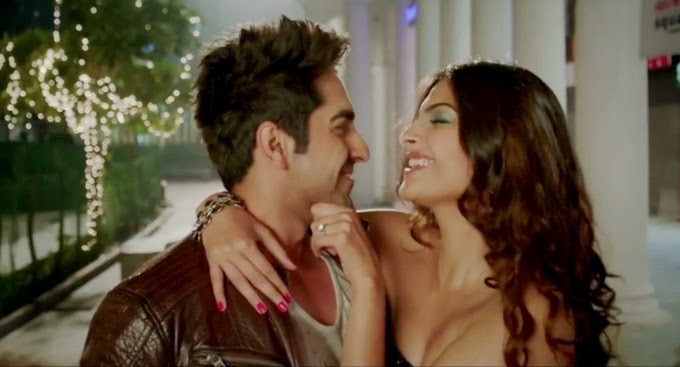 Sonam Kapoor and Ayushmann Khurrana getting intimate on sets of film bewakoofiyaan