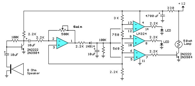 decibel meter circuit schematic diagram