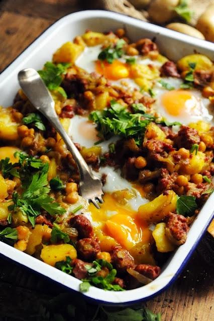 Le vendredi c'est retour vers le futur… 'Tit ragoût merguez pommes de terre et pois chiche aux œufs… en souvenir d'un jour de flemme !