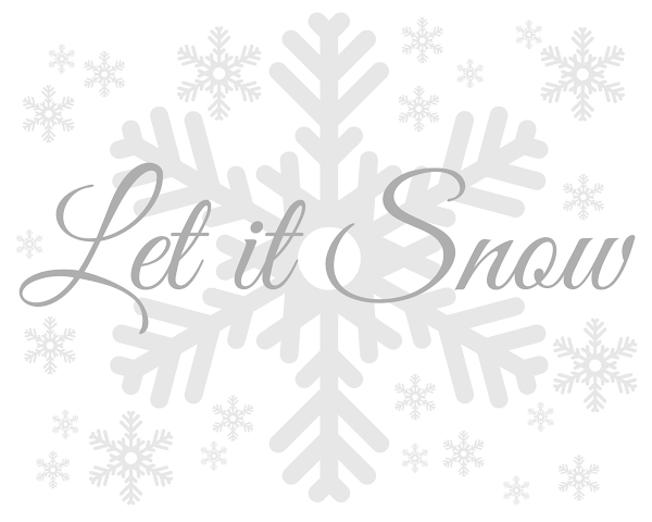 Let it Snow Printable from Blissful Roots