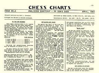 Último ejemplar (Abril 1941) de Chess Charts