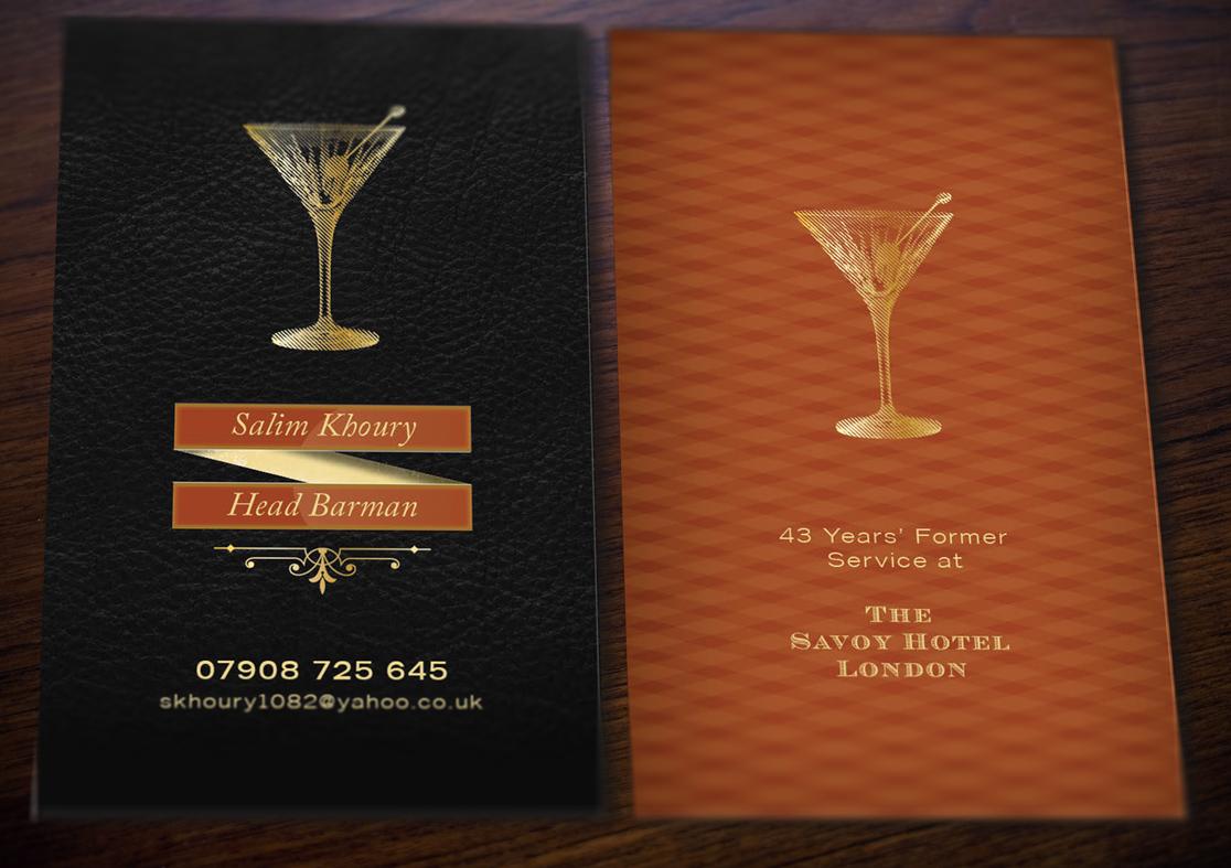 jamie smith design cocktail business card