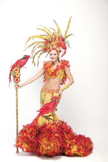 Srta. Colombia 2011-2012. Desfile en traje artesanal Atlántico: Daniella Álvarez Vásquez