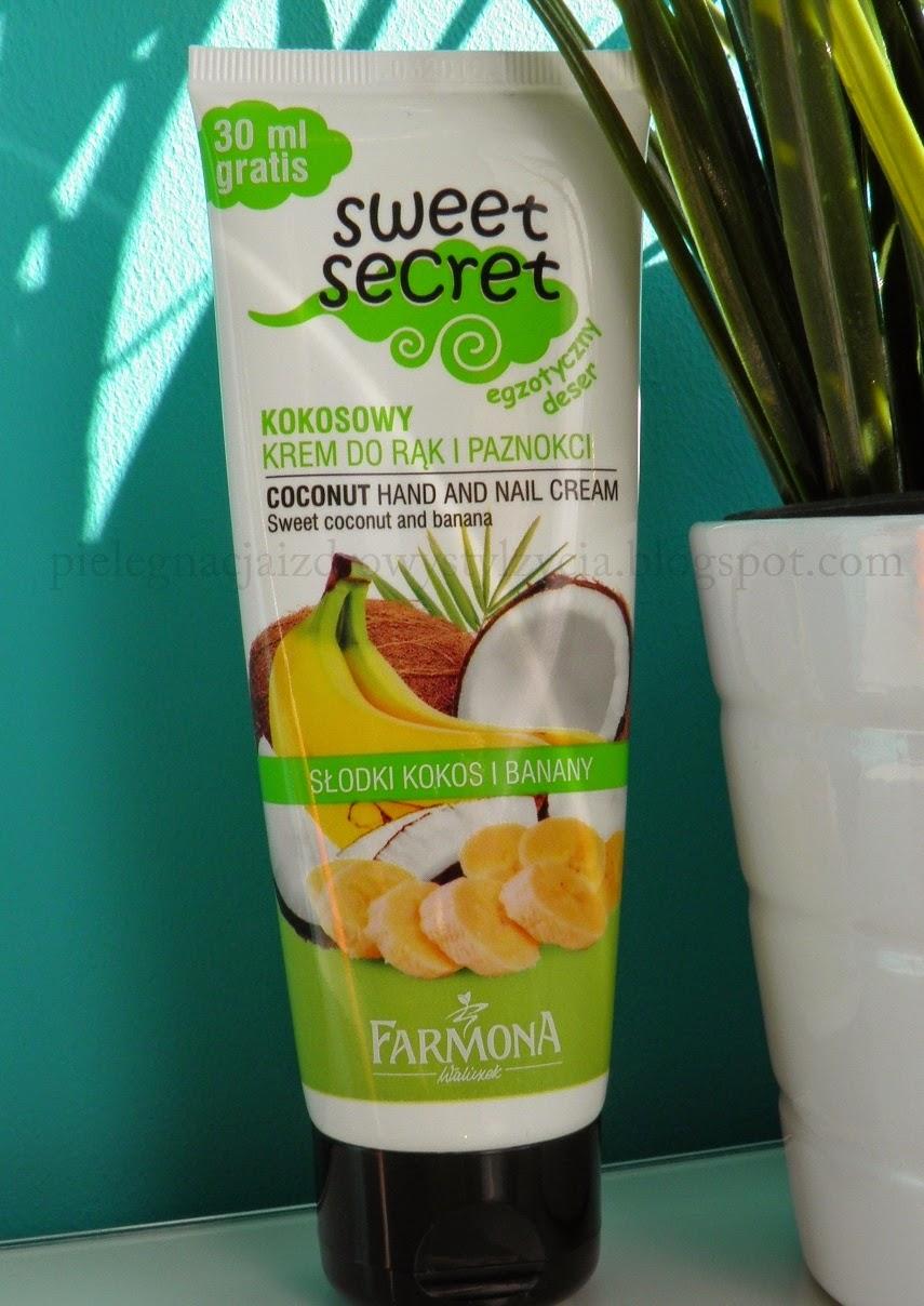 Farmona Sweet Secret, słodki kokos i banany - krem do rąk i paznokci