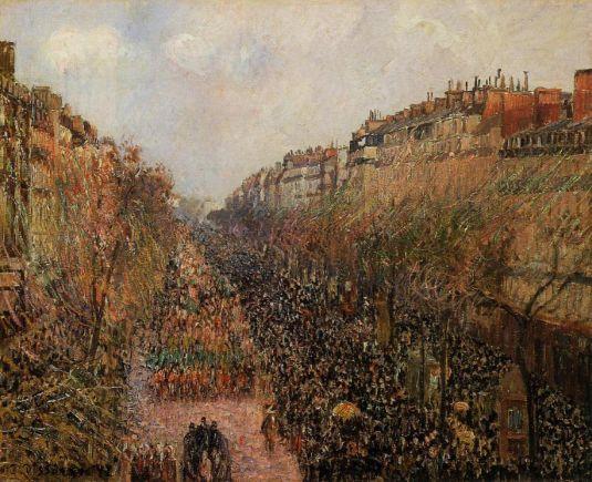 Camille Pissarro, Boulevard Montmartre Mardi Gras, Hammer Museum, Impressionism, 1897