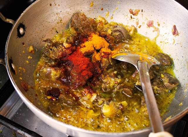 mutton with mustard paste recipe with step by step pictures