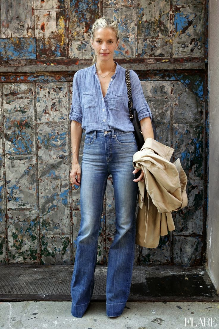 Street Style Inspiration Flare Jeans